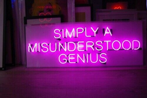 Pisces: misunderstood genius!   Neon signs, Neon words, Neon quotes
